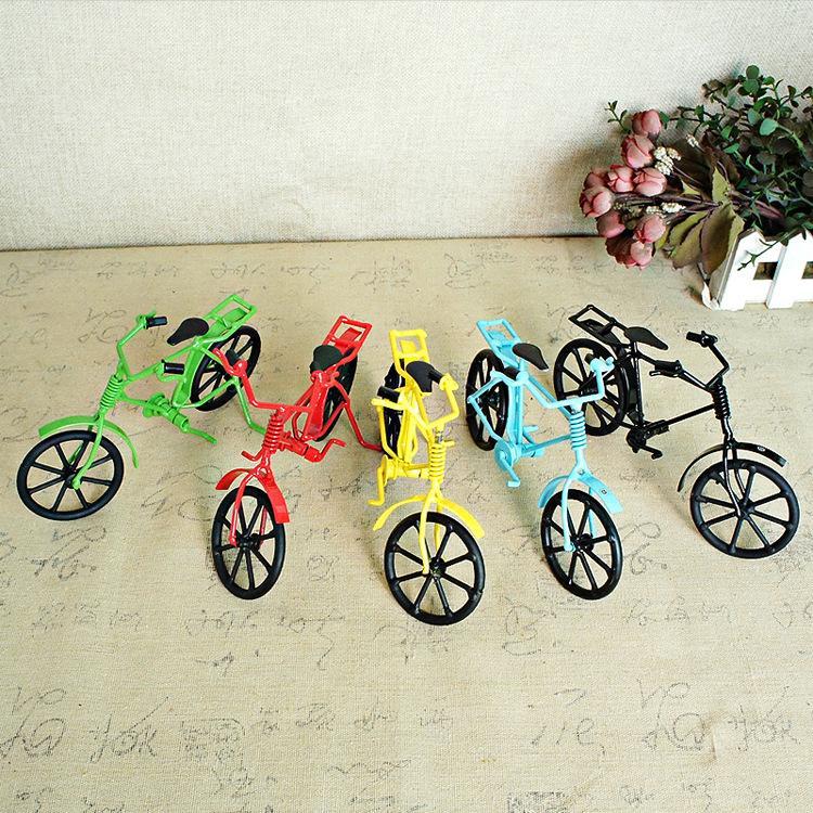 SM Fer Métal coloré Modèle Vélo Vintage Toy, style rétro main Ornement, Noël Enfant Cadeau d'anniversaire, collecte, décoration SMT007, 2-1
