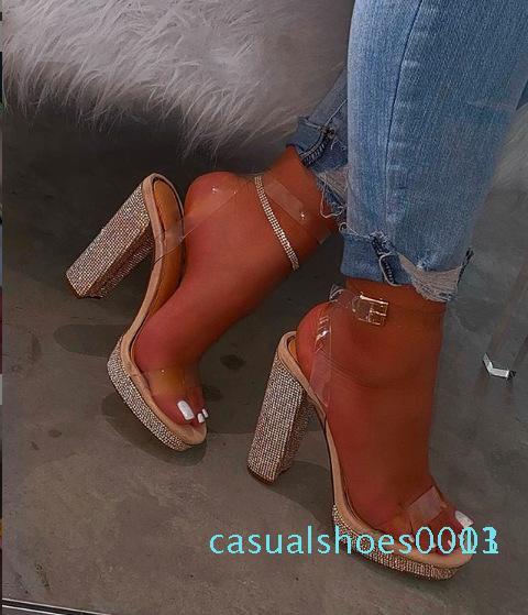 NOUVEAU Femme d'été haut talons Chaussons strass diapositives Lady flip-flops antidérapante Sandales d'extérieur Chaussures compensées Wome Furry Diapositives c13