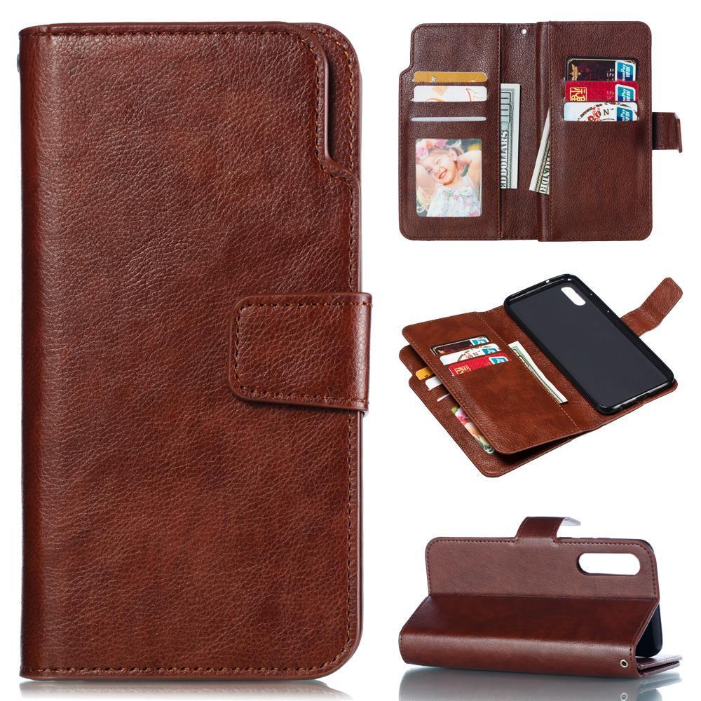 9 слотов для карт кошелек чехол для Huawei P30 P20 Pro P10 Lite P9 P8 флип кожаный держатель кредитной карты магнитная защитная крышка подставки