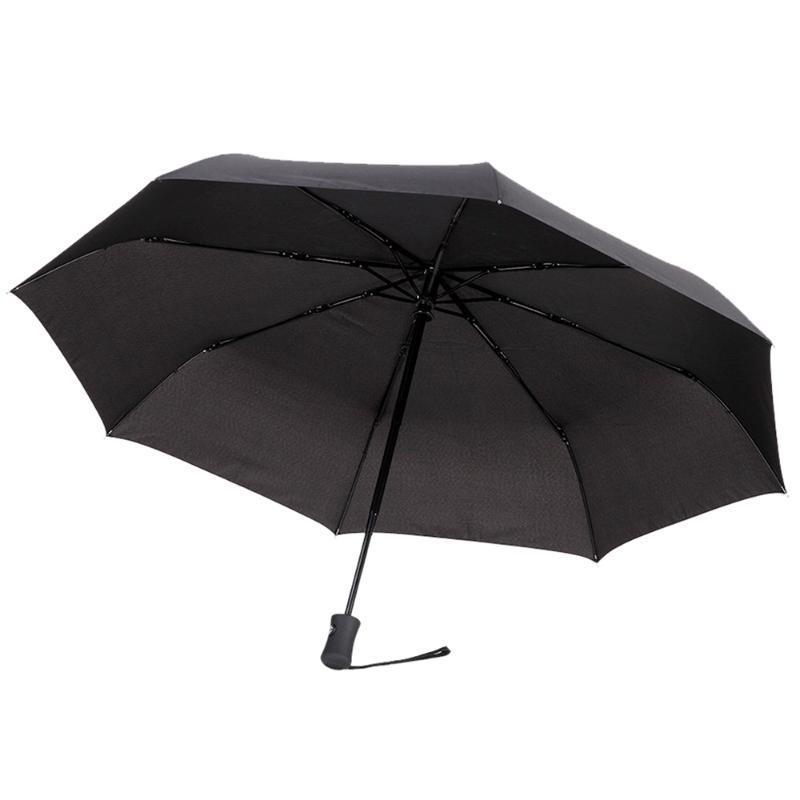 Promozione! Poliestere ombrello pieghevole Ombrello classico automatico nera per gli uomini e le donne