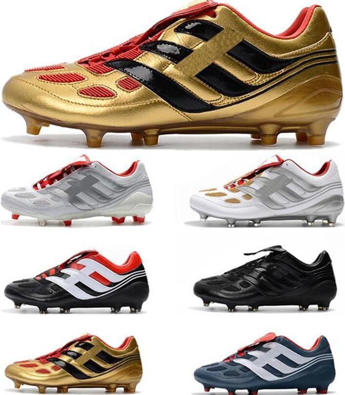 2020 nuovi pattini Predator precisione FG X Beckham FG Mens Calcio PP Paul Pogba leggero FG morsetti di calcio di design più economico scarpe da calcio Falcon