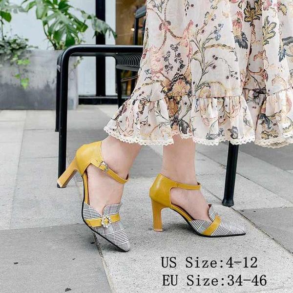 e63c0cfda Zapatos de vestir de moda para mujer Dama de oficina Elegante Bombas Chunky  Botas de tacón