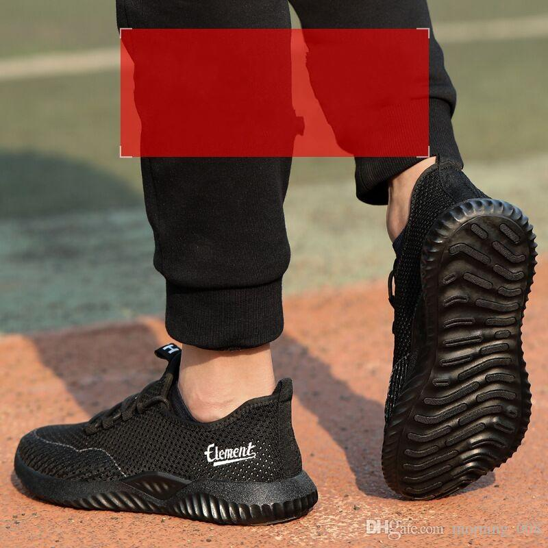 Großhandel Sicherheitsschuh Frauen Herren Stahlkappe Sport Outdoor Arbeit Wanderweg Atmungsaktive Schuhe Schutzschuhe Trainer Stiefel Von Morning_008,