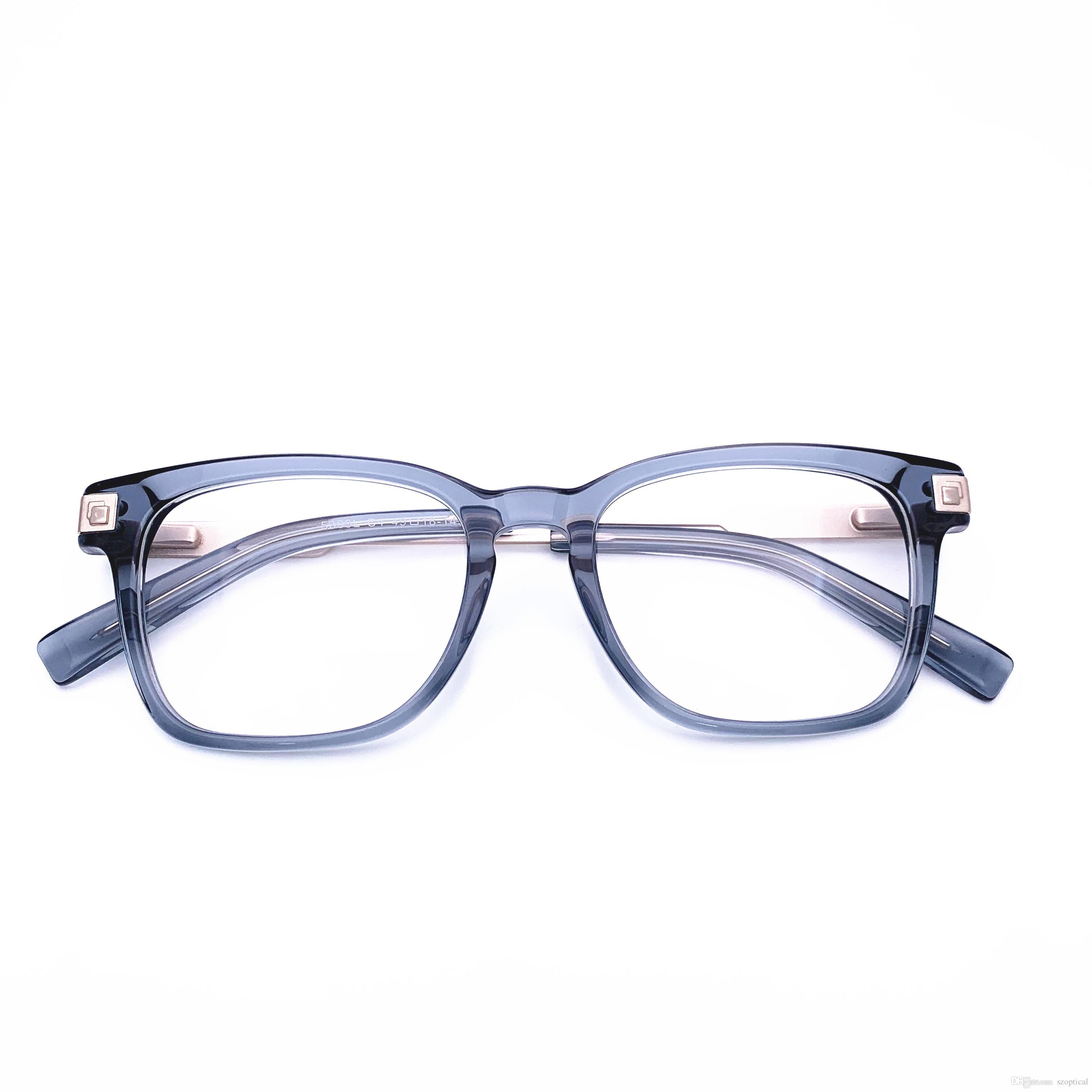 Belight conception optique des femmes des hommes de forme carrée monture de lunettes monture optique de qualité supérieure acétate optiques prescription claires Objectifs 5309