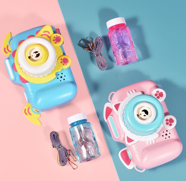 US-amerikanische Börse Neuer Rauch Nebel Spray Bubble Maschinengewehr Nette Automatische Seife Wasser Gebläse Outdoor Spielzeug für Kinder Mädchen Jungen Geschenk Sport Party Home