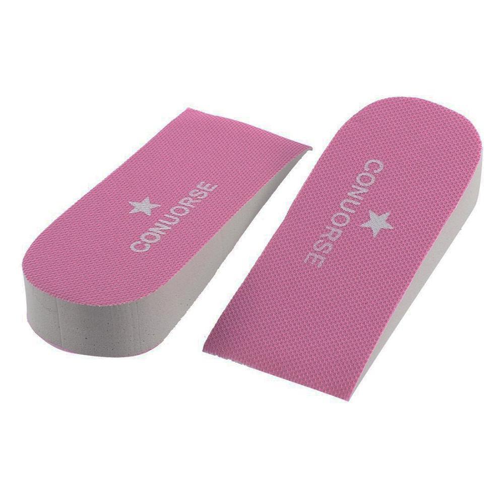 1Pair Unisex 2.5cm Höhen-Zunahme-Einlegesohlen-Schuh-Einlegesohlen Halbeinlegesohle Heighten Heel Insert Sportschuhe Sitzkissen Zufällige