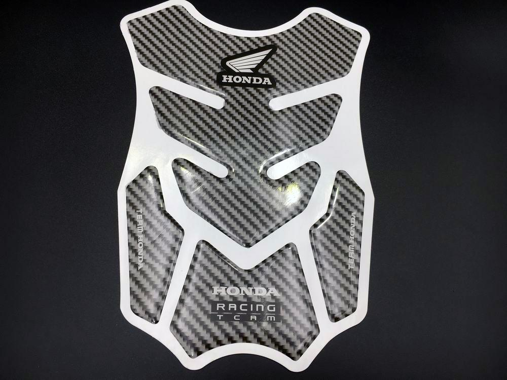 Motorcycle Fuel Tank Protector Pad Decal For Honda Racing Carbon Fiber Sticker