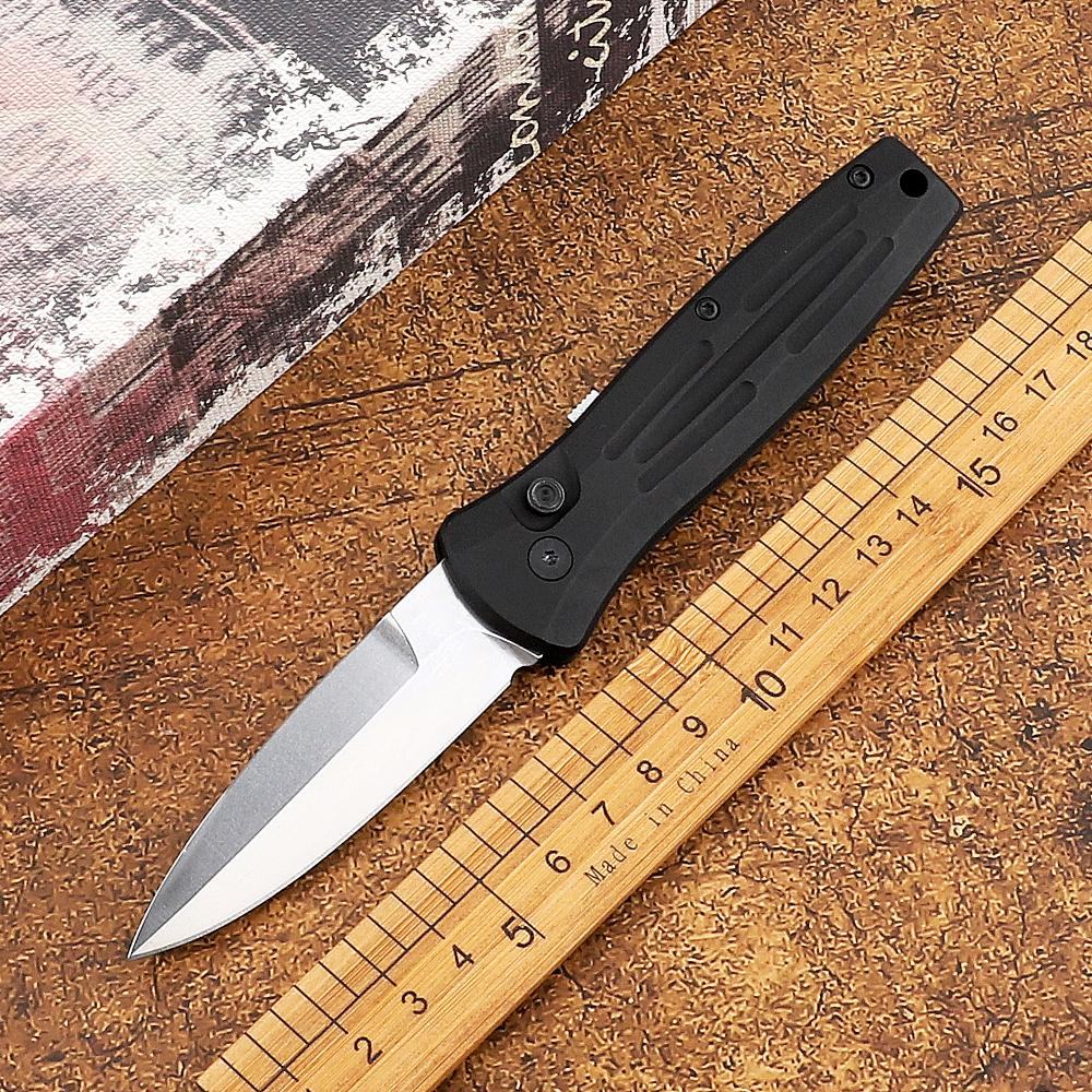 BM 3551 Couteau pliant côté rapide Ouvrir une seule action unique 154cm lame de la lame de l'aluminium de l'aluminium de l'aluminium de la défense de l'autodéfense tactique extérieure