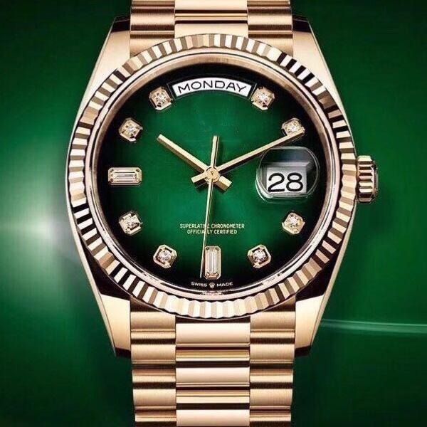 ساخنة جديدة سلسلة الغوص الفاخرة السيراميك دائرة الرجال الساعات الميكانيكية الفاخرة الغوص الأخضر الرجال الساعات الكلاسيكية