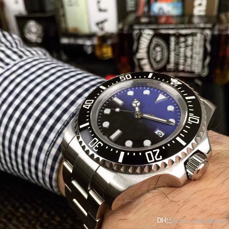 Роскошные Мужские Часы SEA-DWELLER Керамическая рамка 44 мм Stanless Steel 116660 Автоматическая Высокое Качество Бизнес Случайные Мужские Часы Наручные Часы