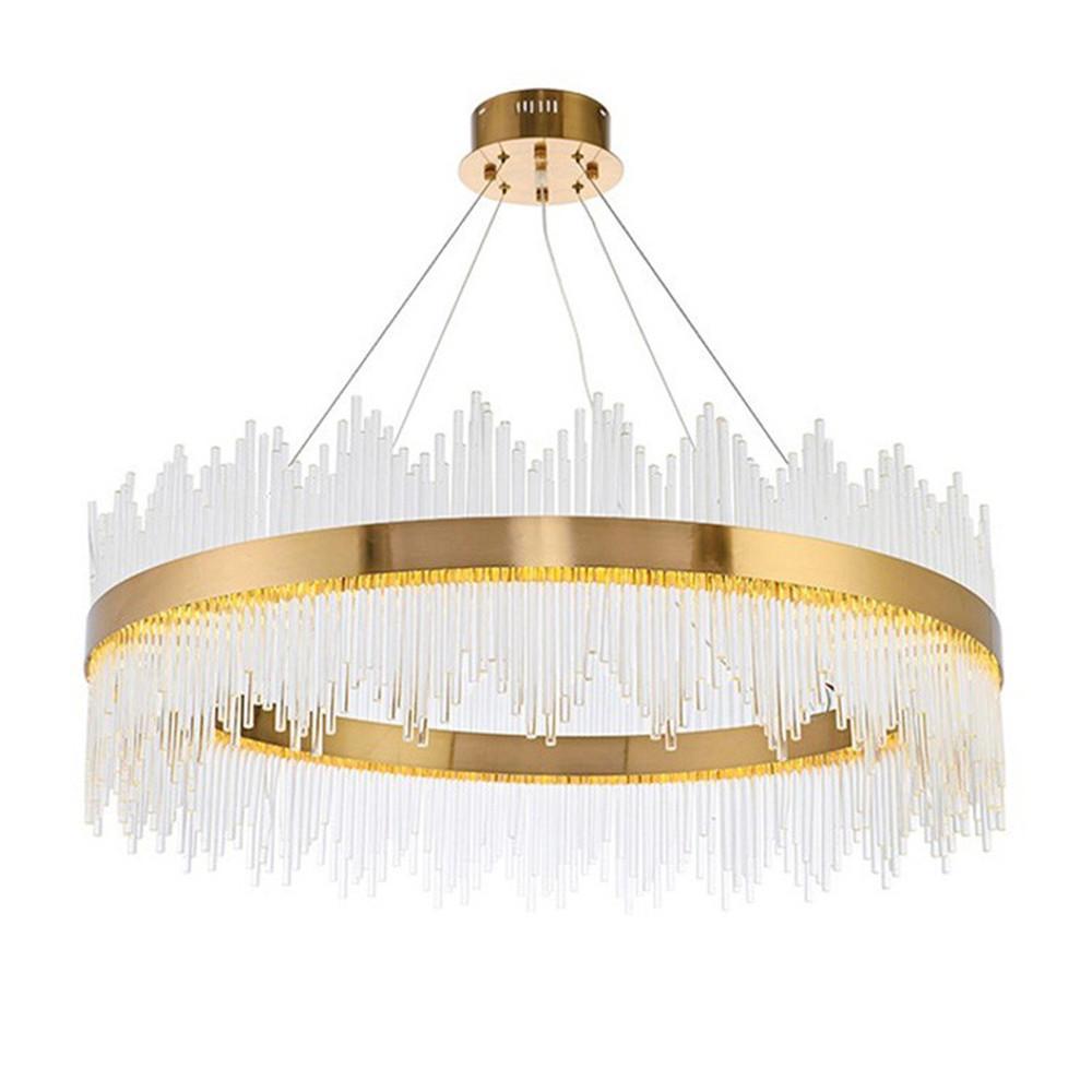 Modern Luxury cristallo LED rotonda lampada a sospensione oro Lampadario del salone della casa di soffitto della lampada del PA0491