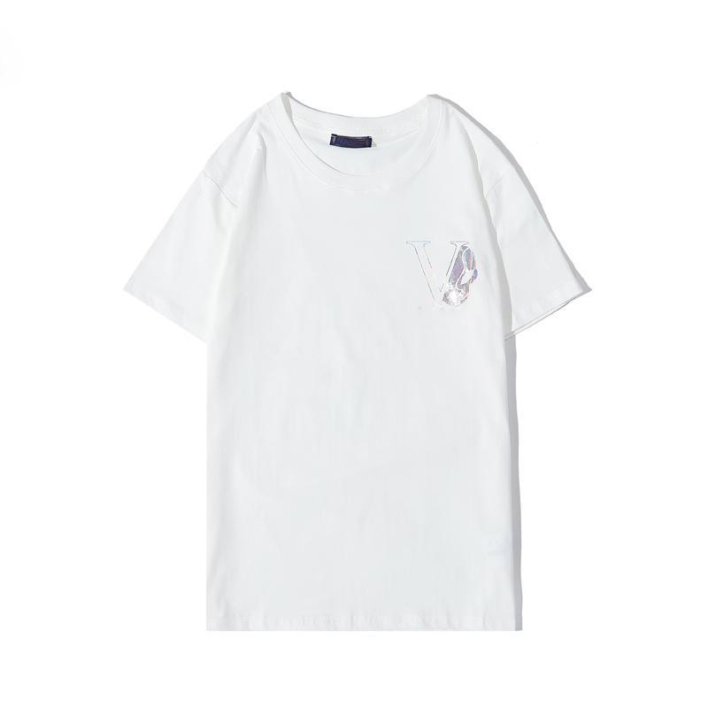 Новая мода тенниску череп Красочные печати черный whiteStylist Футболка с коротким рукавом высокого качества 100% хлопок Мужчины Женщины Хип-хоп футболки