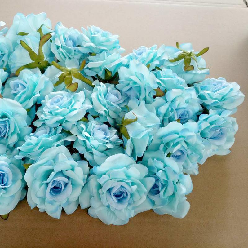 50pcs Wedding Decoration Artificial Flowers Head 10 Cm For Diy Wreath Gift Box Floral Silk Party Design Flowers T8190626
