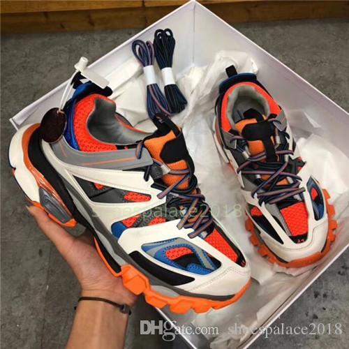 رياضة الجري المسار 3.0 احذية تيس باريس الرجال جمعه ماي الأسود منخفضة المسار 3M تريبل اس الاحذية في الهواء الطلق Chaussures