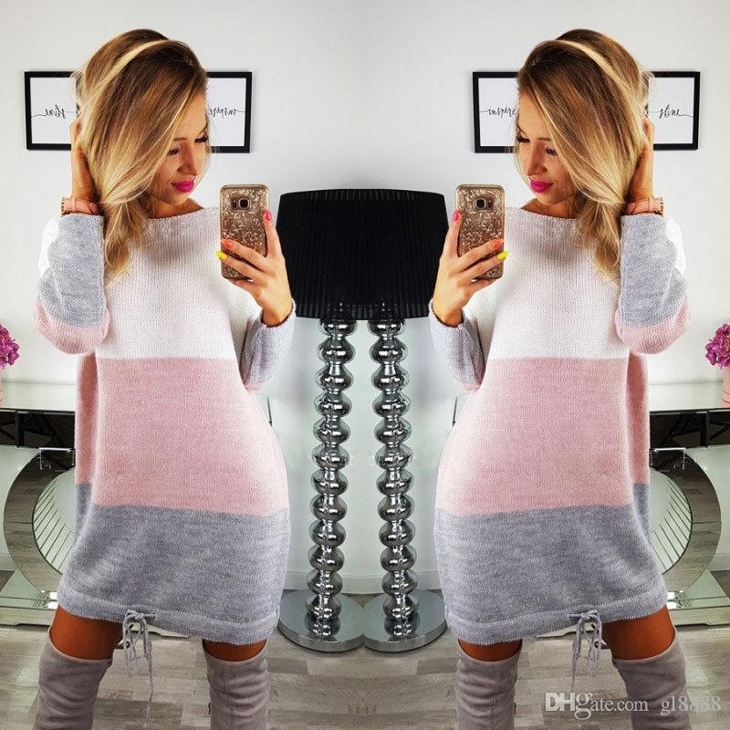 Casual Winter Sleeve Ladies Dress Women Sweater Hoodie Sweatshirt Jumper Long Bubrl