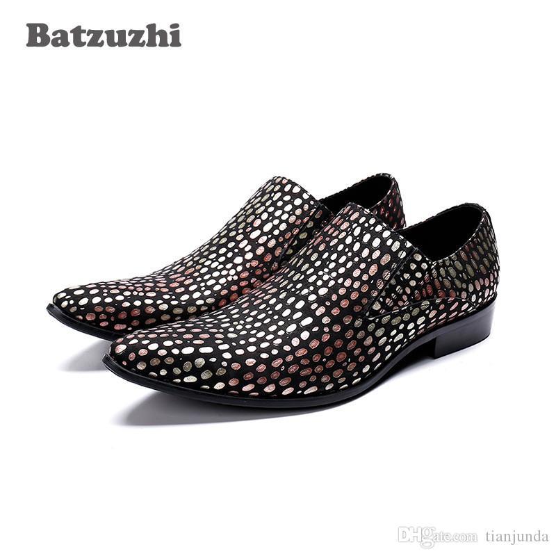 Batzuzhi giapponesi moda uomo scarpe formali scarpe da sera per uomo slip on colore partito, runway dress scarpe uomo zapatos de hombre