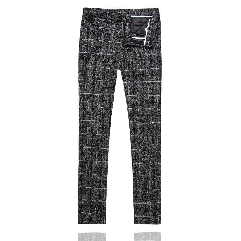 Pantaloni a quadri uomo Pantaloni eleganti a quadri Pantaloni uomo giallo blu grigio Pantaloni neri per il tempo libero Asia Taglia S M L XL XXL XXXL 4XL 5XL