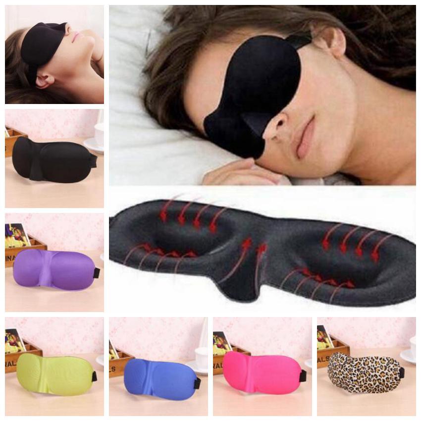 Nuevo color de ojos 6 3D estereoscópica Máscara respirable ojo del sueño universal de las mujeres de los hombres y
