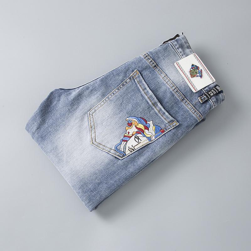Best Seller Yeni Moda Erkek Giyim Özgün Tasarım Erkekler Jeans Düz Pantolon gevşetin ve konforlu Vx201 tercih