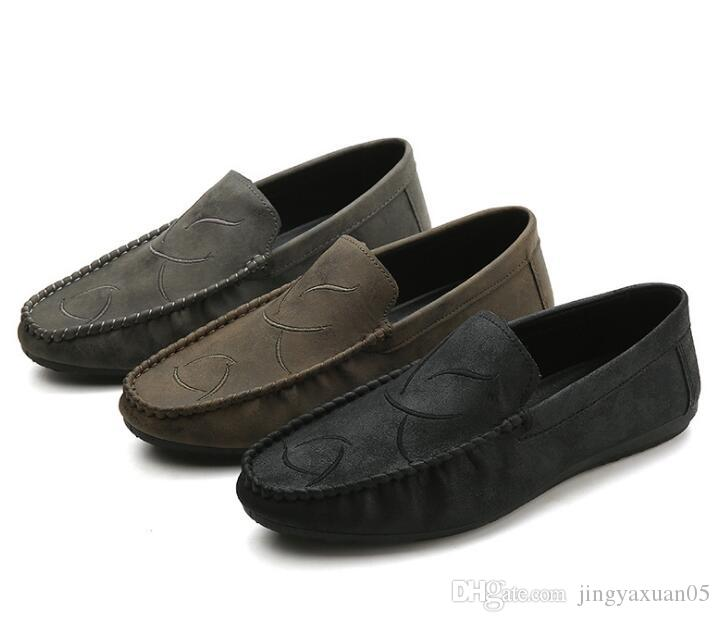 2019 Nouveautés Automne meilleures ventes Chaussures Bean Lazy Men coréenne Fashion Edition Chaussures hommes Factory Direct Selling