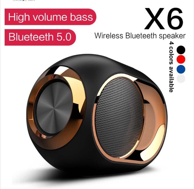 X6 무선 블루투스 샤워 스피커 하이파이 스테레오 사운드 방수 저음 스피커 음악 서라운드 사운드 FM TWS SD AUX 스피커