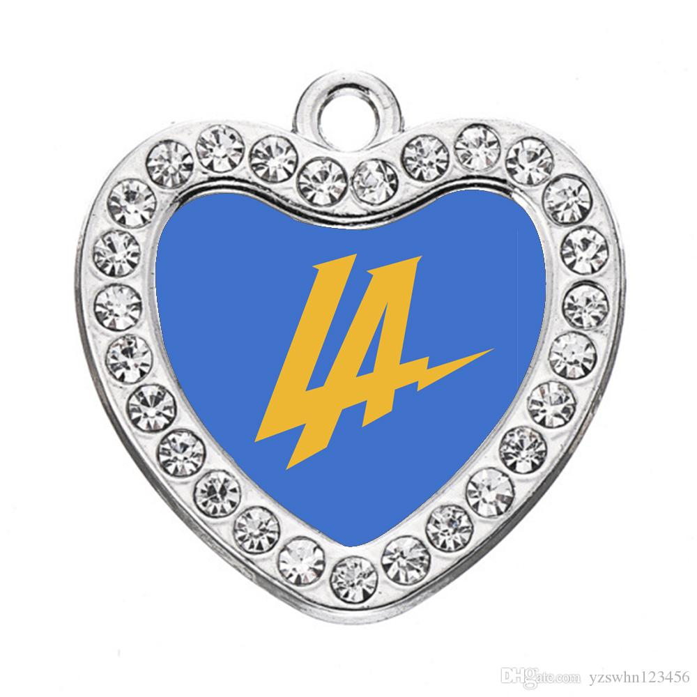Encantos de encargo Ángeles Cargadores del corazón de la vendimia del collar del encanto colgantes de la manera para las mujeres de los hombres de joyería de bricolaje