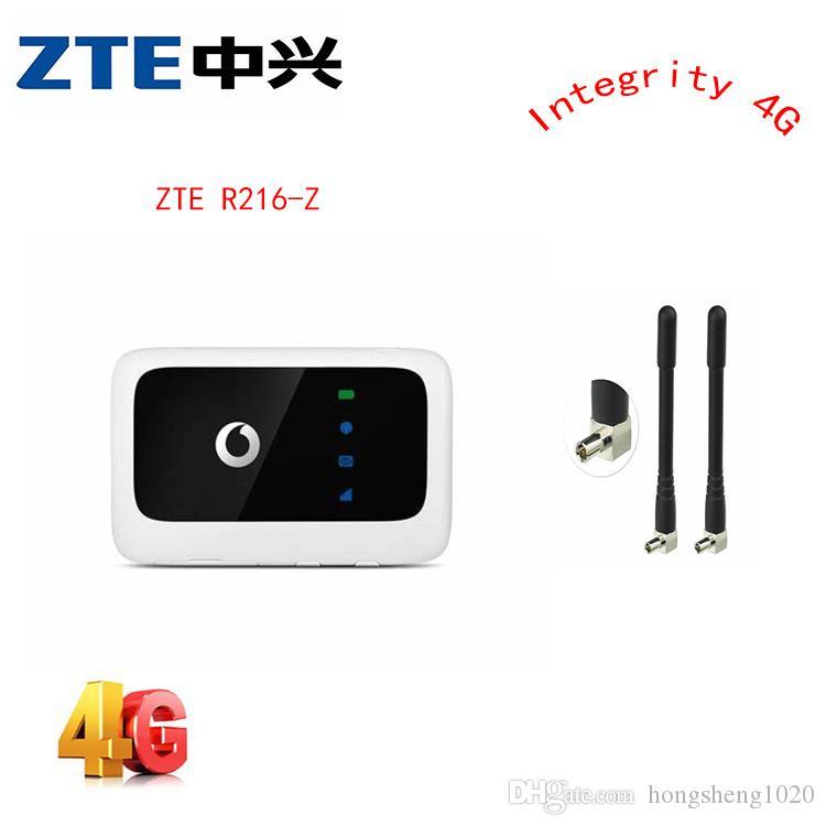 Desbloqueado 4g roteador ZTE Vodafone R216 R216-z router 4G LTE 150Mbps Mobile Hotspot bolso com antena PK e5220 e5336 e5330