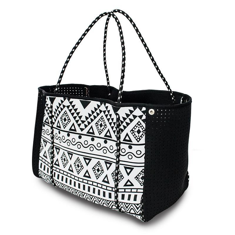 Designer-New Trendy Beach Bag Yoga Sports tote handbag Neoprene Multipurpose Beach bag Fashion Summer Lady Handbag