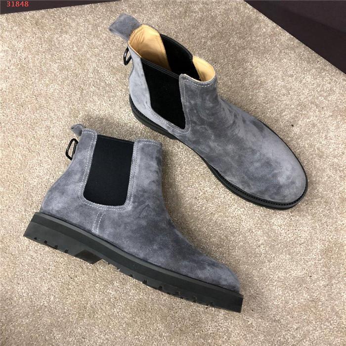Sonbahar kış erkekler Martin botları erkek karşıtı -suede botlar moda trendi rahat yüksek - Üst düşük - topuk deri ayakkabı, ayakkabı kutusu tam spektrum