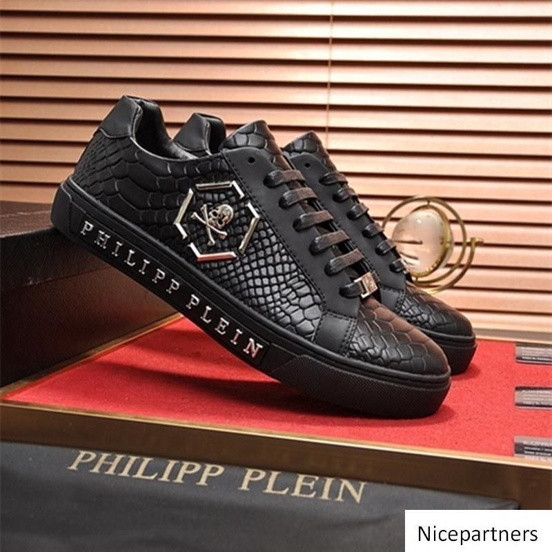 Mode nouvelle Chaussures Hommes Casual Mode de luxe de Chaussures à lacets bande bleue verte avec Top qualité en cuir véritable avec boîte