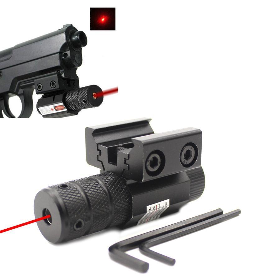 소형 전술 미니 레드 닷 레이저 시력 범위에 맞는 피카 티니 레일 마운트 11mm의 20mm 기어 장비