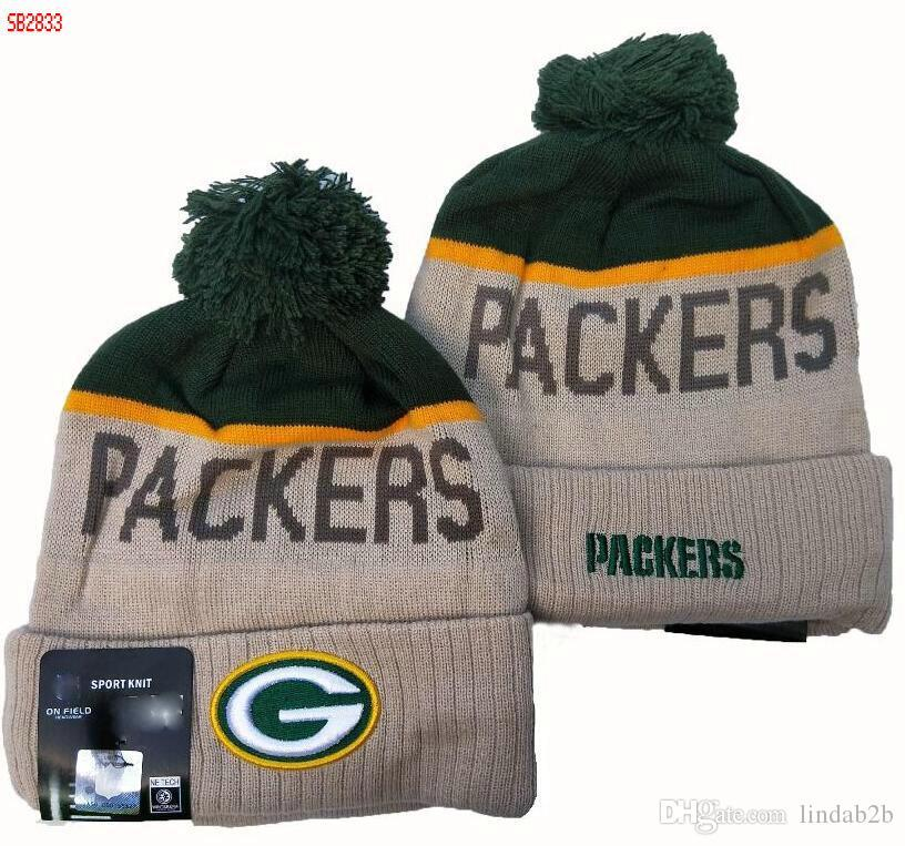 2020 Green Bay Beanie Sideline Script Cuffed Pomp Kc Knit Hat With Pom Women Men Sport Knit Hat All Team Winter Knitted Wool Skull Cap 1000 17 From Youngbags 9 83 Dhgate Com