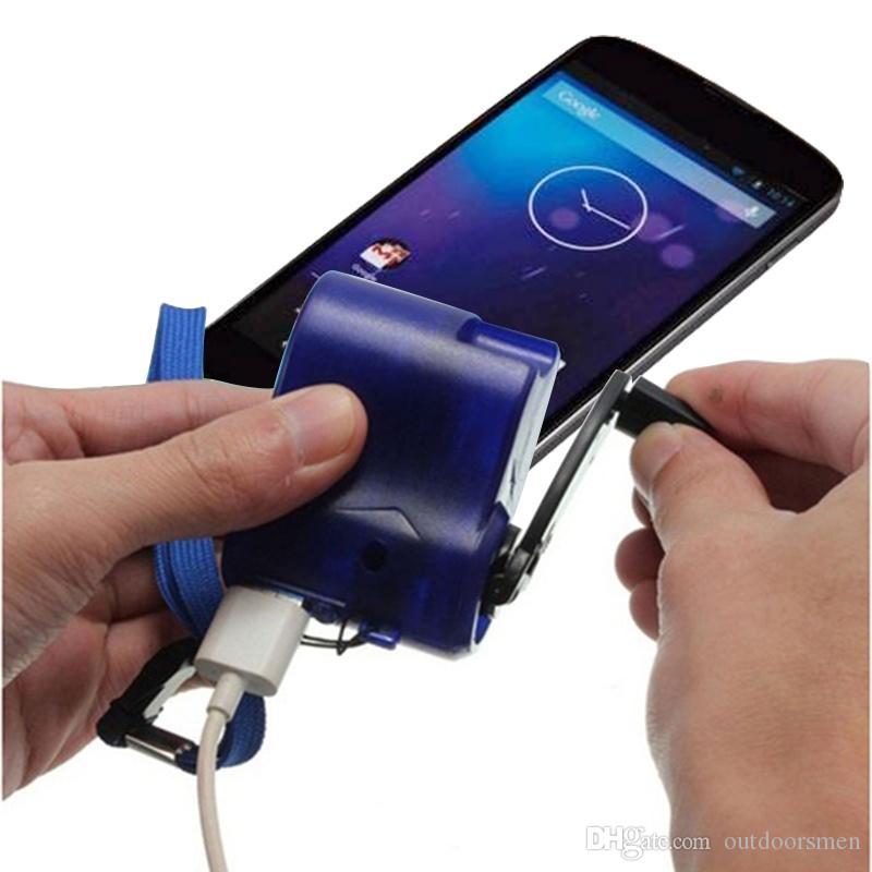 Outil de plein air Mini manivelle USB radio lampe de poche chargeur de téléphone portable Manuel chargeur d'urgence générateur pour Voyage en plein air