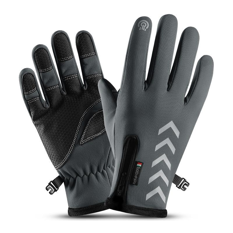 All Season Motorcycle Bicycle Warm Full Finger Driver Outdoor Sport Gloves