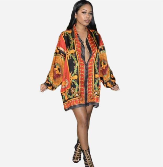 Womens Tasarımcı Baskı Casual Uzun Kollu Yaka Boyun Gömlek Moda Gevşek Doğal Renk Gömlek Modelleri Kadın Giyim bluzlar
