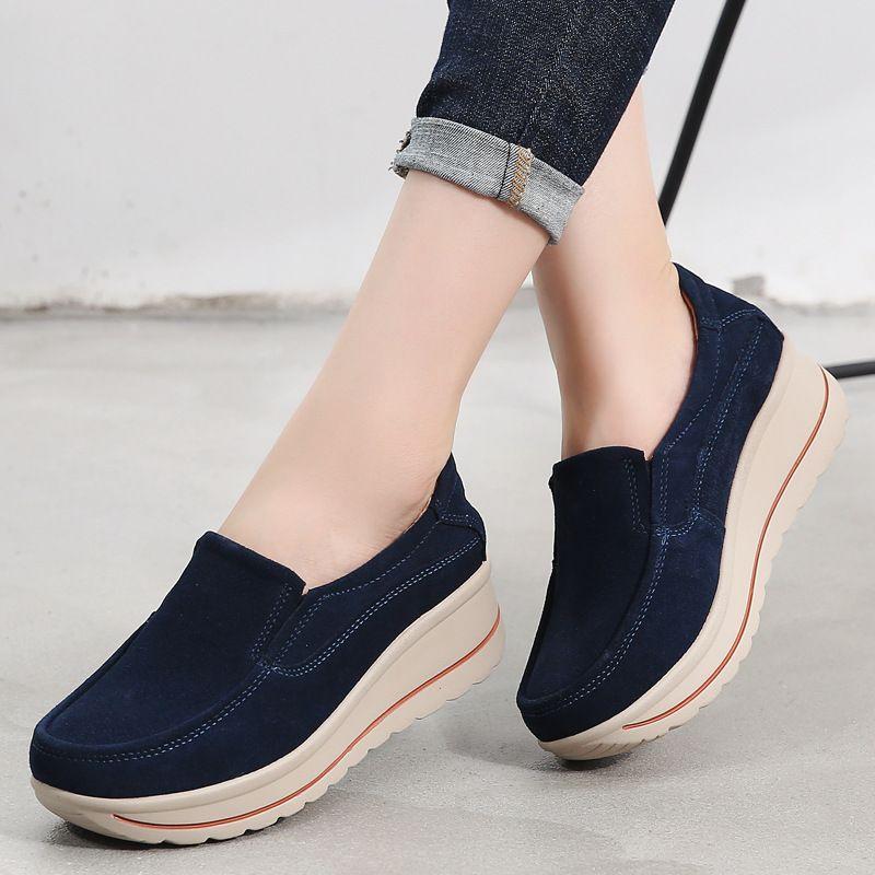 2019 novo estilo coreano estilo sapatos casuais sapatos de esportes casuais tamanho grande couro genuíno venda quente sapatos femininos