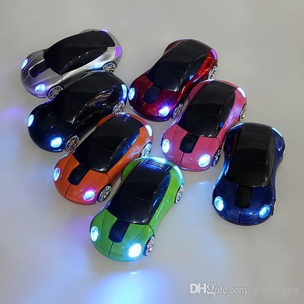 Yeni 2.4G Kablosuz Oyun porsche araba Şekil Fare USB 2.0 Optik Fare PC Laptop Notebook USB Alıcı Için
