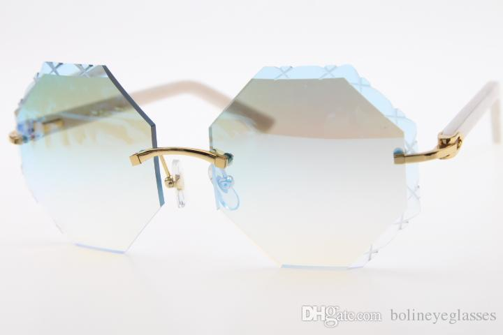 2020 New Style 4189706 aro preto Braços Sunglasses Hot Unisex Branco Plank Vidros com caixa esculpida espelho moda óculos de sol clássicos
