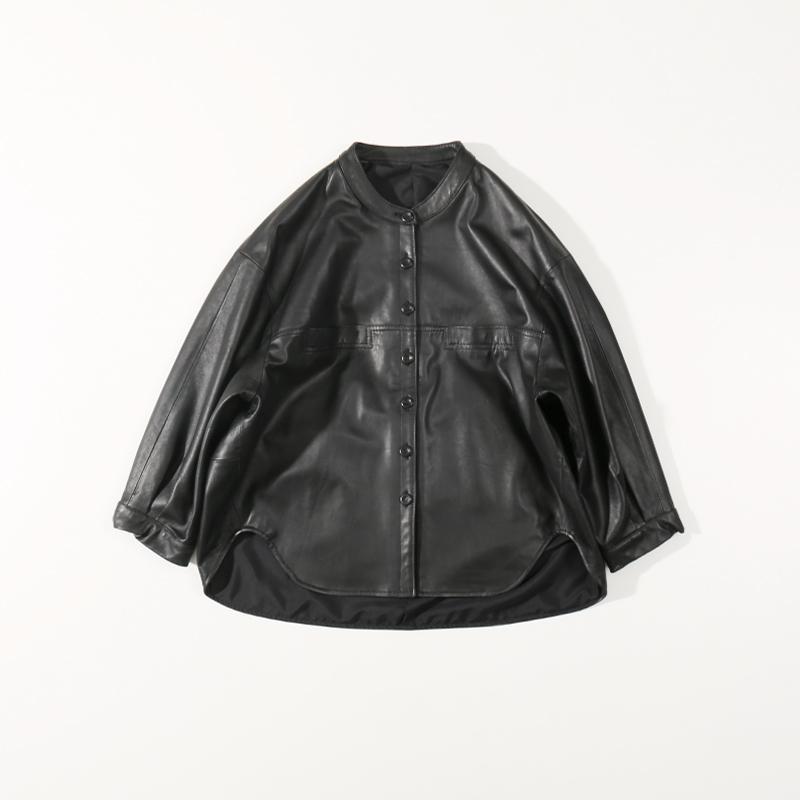 2020 Yeni Koyun postu Koreli Kısa Yuvarlak Yaka Günlük Stil Kadınlar Gerçek Deri Ceket