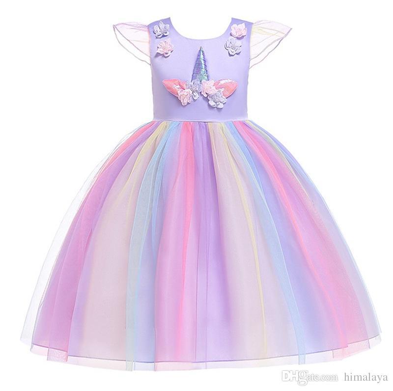 Sz Teroid Ok Vestido De Unicornio Para Niña