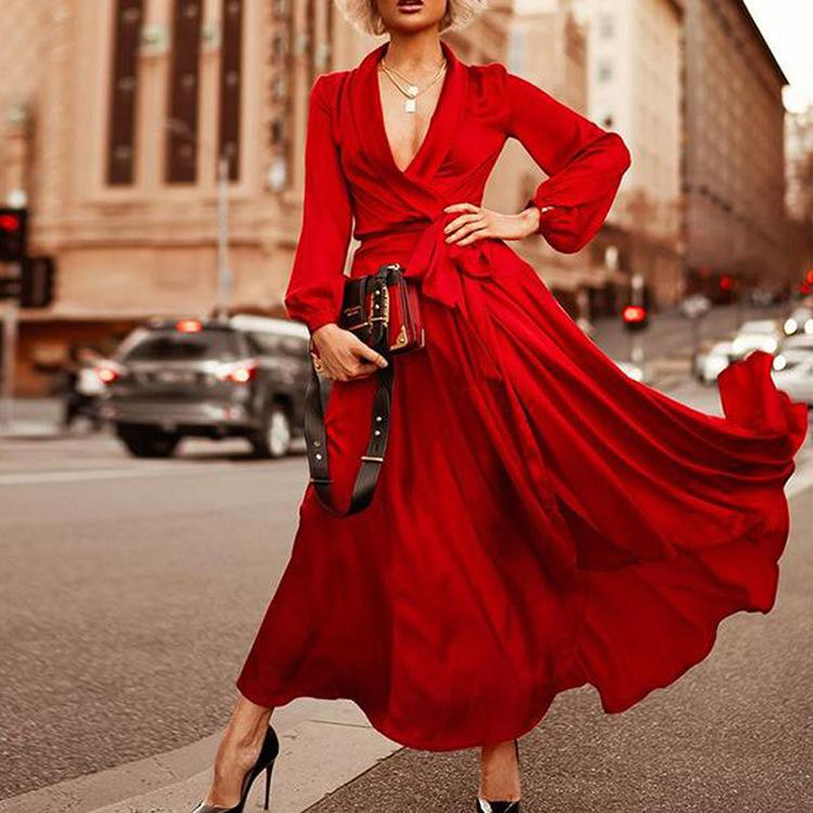 2019 Elbise Grace Violet V Kurşun Seksi Elbise