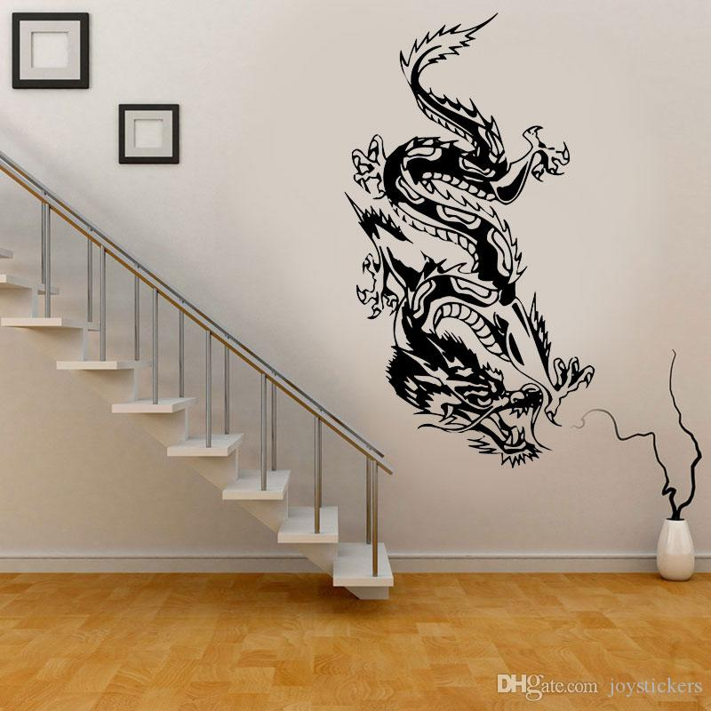 Sticker decal vinyl car bike laptop bumper chinese dragon decal mythical animal living bedroom mural