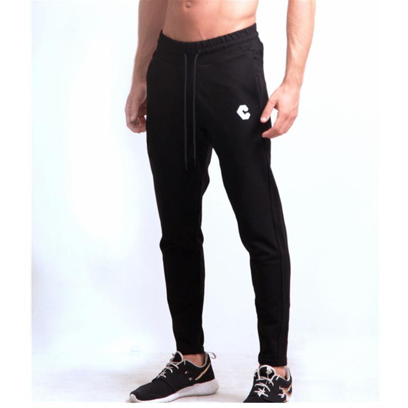 neue Herren Jogginghose Baumwolle Jogginghose Turnhallen-Qualitäts-Fitness beiläufige elastische Männer Bodybuilding Bekleidung Jogger Hosen