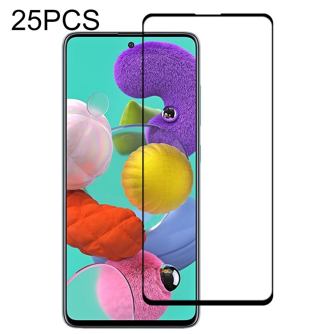 25 PCS 9 H Yüzey Sertlik 2.5D Tam Tutkal Tam Ekran Temperli Film İçin Galaxy A51