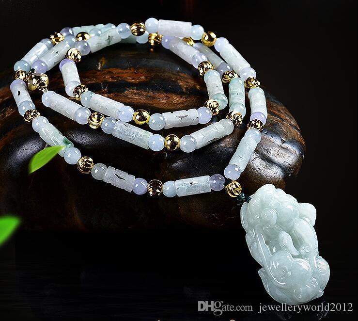 Guanyin Buddha rindo dragão PI xiu exorcizar os maus espíritos colar de pingente de colar grosso de tecelagem
