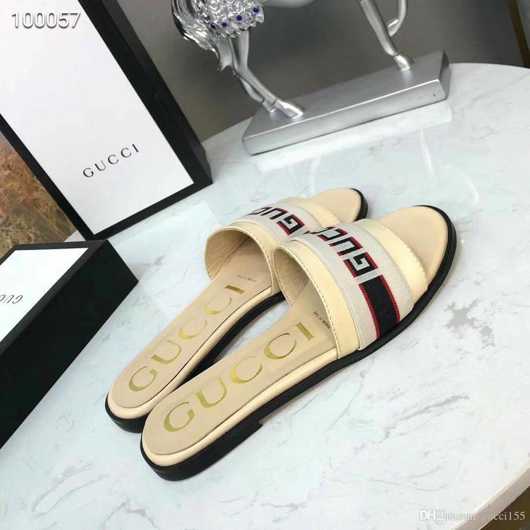 2019 famosas sandálias das mulheres Super designer de marca sandálias moda casual top qualidade de trabalho de couro entrega gratuita com caixa in30