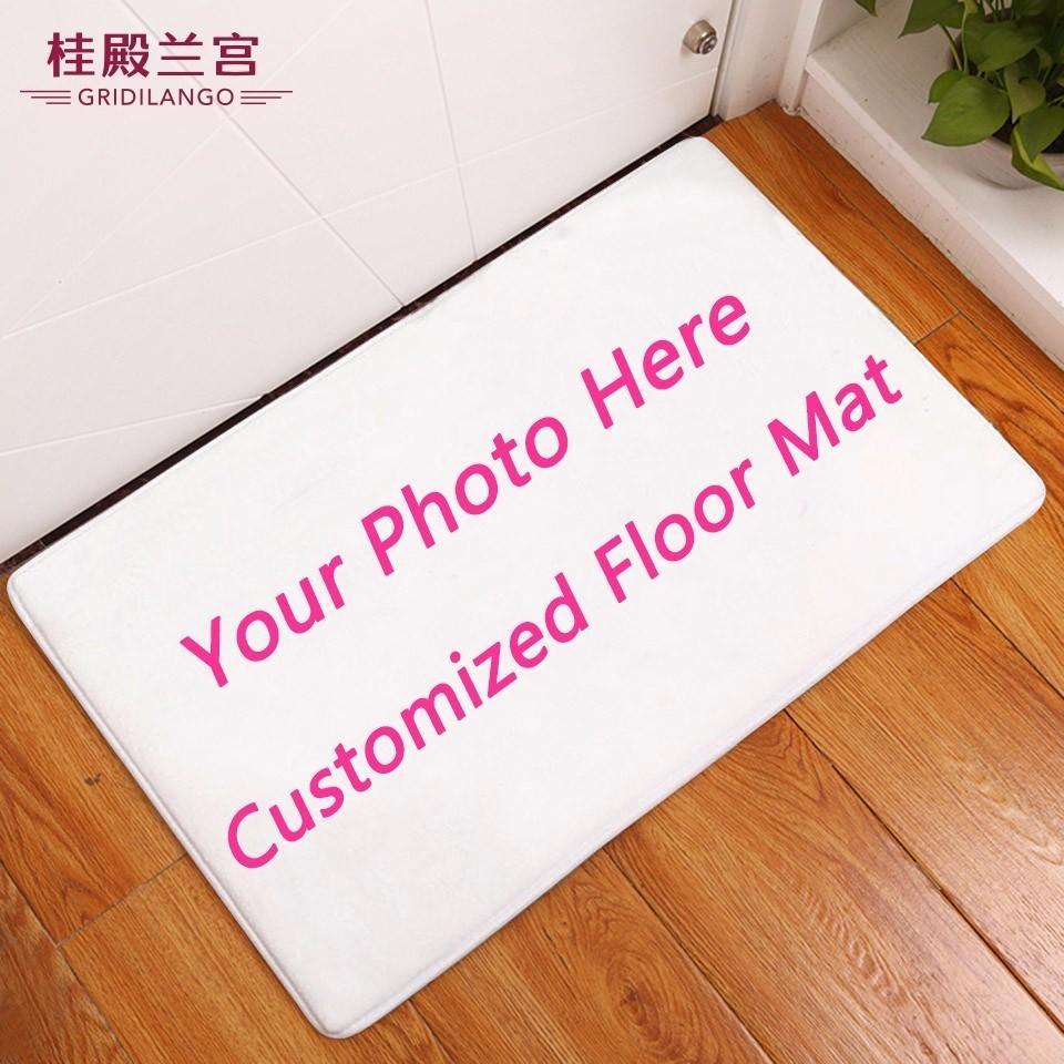 GRIDILANGO на заказ нескользящей ковры для ванной название фото Подгонянный половик принт на дверь пол коврик ковер открытый дропшиппинг