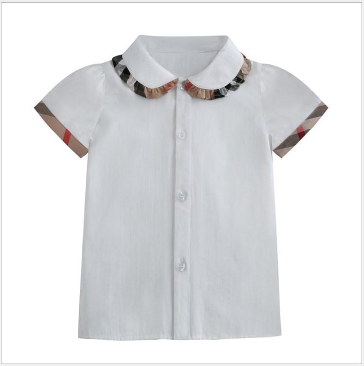 Jolies filles chemises à manches courtes d'été enfants coton coton chemise en coton coton chéri baby fille tops