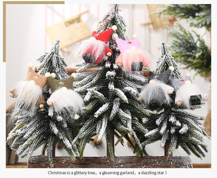 New Fashion Christmas Decoration Creative Christmas Tree Ornaments Double Ball Cap No Face Doll Pendant