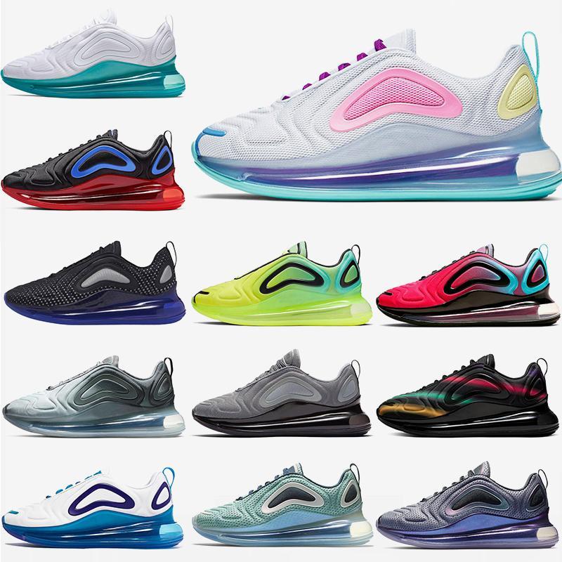 2020 zapatos corrientes de la venta al por mayor Marca Sport moda de alta calidad de Aqua polvo triples blancas para deportes Tenis zapatillas de deporte para hombre de las mujeres 36-45 OFF